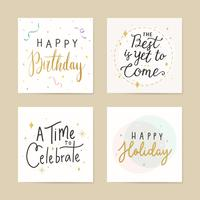 Festive greeting cards