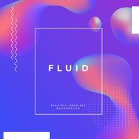 Fluid gradient wallpaper design