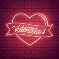 Neon-Valentinstag-Illustration