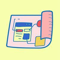 Doodle de la disposition de modèle de site Web