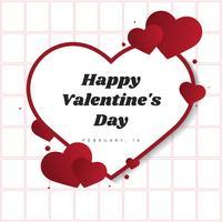 Illustration de la carte de la Saint-Valentin