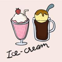 Illustration drawing style of ice cream