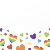 Heart background illustration