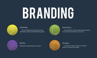 Illustrazione del marchio di marketing