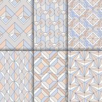 Conjunto de patrones sin fisuras geométricos pastel coloridos