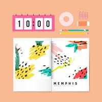 Memphis sommar brevpapper illustration