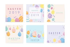 Fröhliche Ostern 2019 Kartendesign