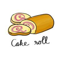 Vector of cake roll dessert