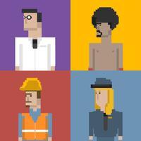 Pixel ilustración de ocupación