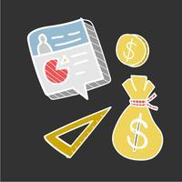 Doodle insieme di piani finanziari
