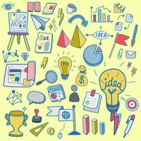 Illustration of startup business doodle collection
