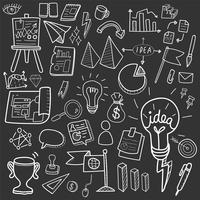 Ilustração da coleção de doodle de negócios de inicialização