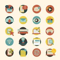 Illustration set of social network icons