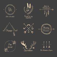 Mão desenhada viagem design coleção