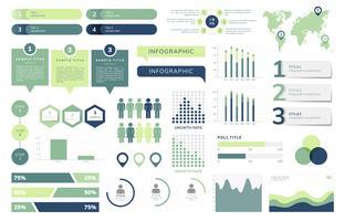 Conjunto de vectores infográficos de negocios