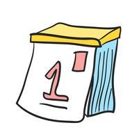Ilustración del icono de vector de calendario