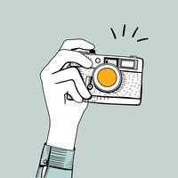 Vettore della macchina fotografica d'epoca