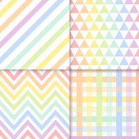 Seamless pastel patterns vector set