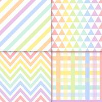 Modèles vectoriels sans couture pastel