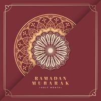 Red Eid Mubarak card