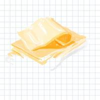 Dibujado a mano queso estilo acuarela