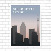 Silhuett skyline illustration