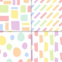 Seamless pastel patterns vector set