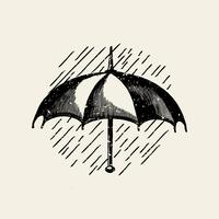 Classic umbrella logo illustration