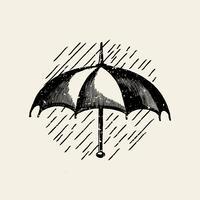 Illustration du logo parapluie classique