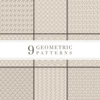 Collezione di motivi geometrici beige minimal
