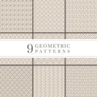 Minimal beige geometrisk mönsteruppsamling