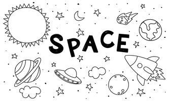 Illustratie van ruimtewetenschap