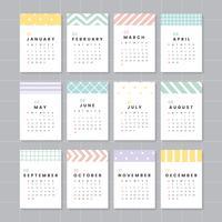 Mockup calendario colorato
