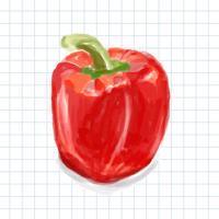 Style d'aquarelle poivre dessiné à la main