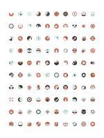 Vector conjunto de iconos de marketing digitales
