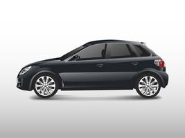 Black hatchback car isolated on white vector