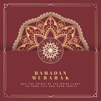 Red Eid Mubarak card