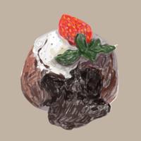Stile acquerello disegnato a mano dessert