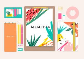 Collection de papeterie d'été de Memphis