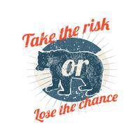 Tomar riesgos ilustración insignia