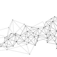 White neural network illustration