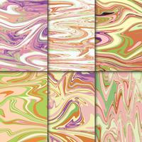 Colorful marble illustration set