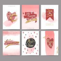 Süßer Valentinsgrußkartenentwurf