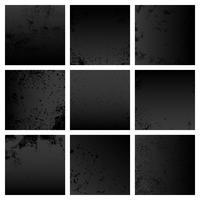 Zwarte grunge noodlijdende textuur set