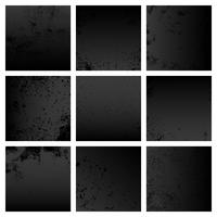 Black grunge distressed texture set