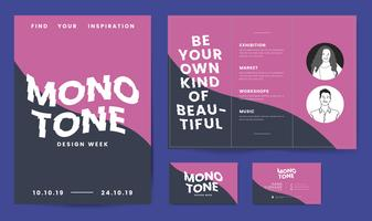 Leaflet, posters, and business card template