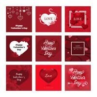 Alla hjärtans dag ikon illustration samling