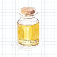 Hand drawn sesame oil watercolor style