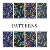 Nature leaf pattern design set