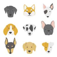 Illustration of dogs collection